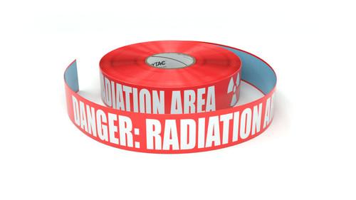 Danger - Radiation Area with Symbol - Inline Printed Floor Marking Tape