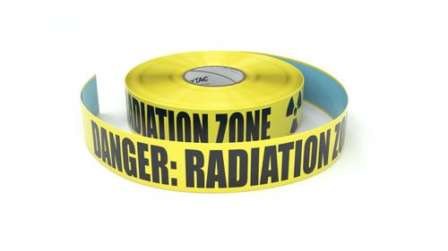 Danger - Radiation Zone with Symbol - Inline Printed Floor Marking Tape