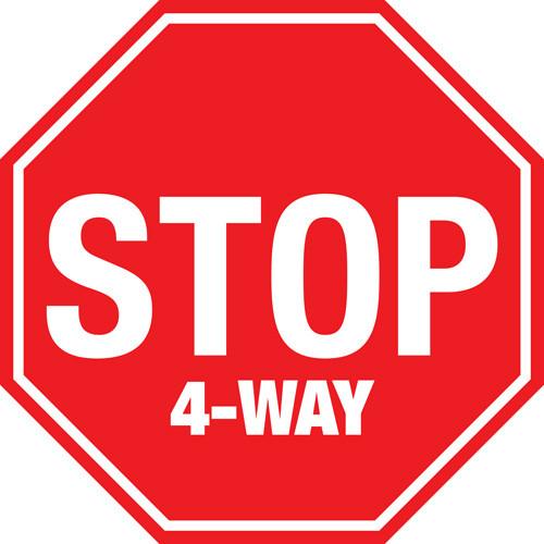 Stop: 4-Way Stop - Floor Sign