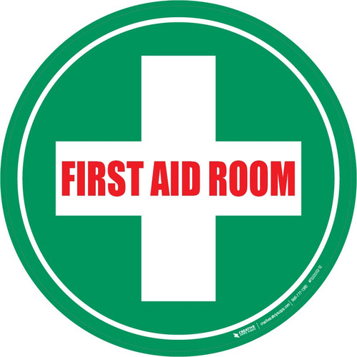 First Aid Room - Floor Sign