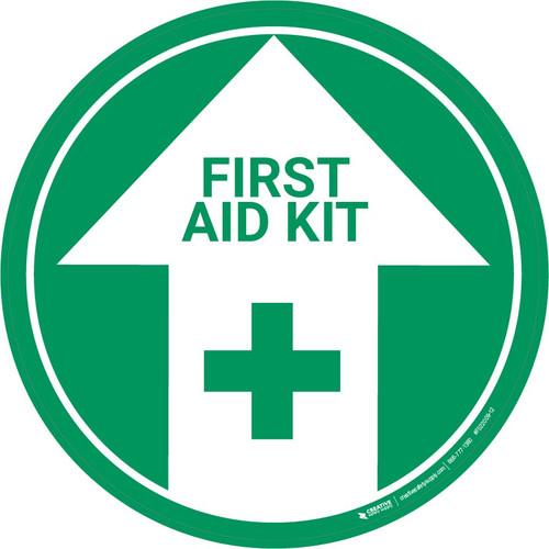 First Aid Kit (Arrow Up) - Floor Sign