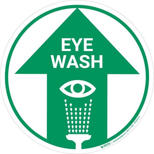 Eye Wash (Arrow Up) - Floor Sign