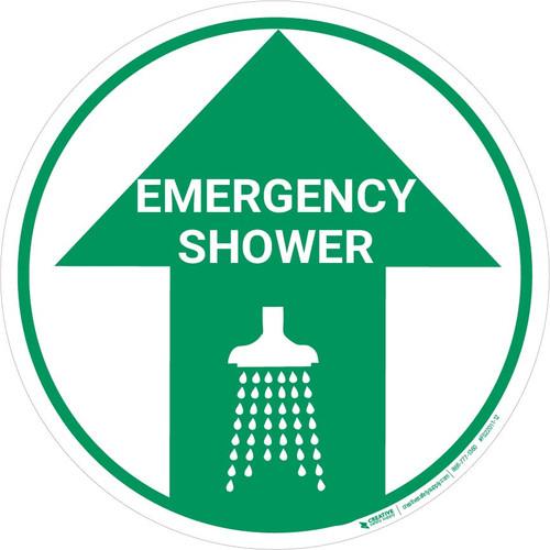 Emergency Shower (Arrow Up) - Floor Sign