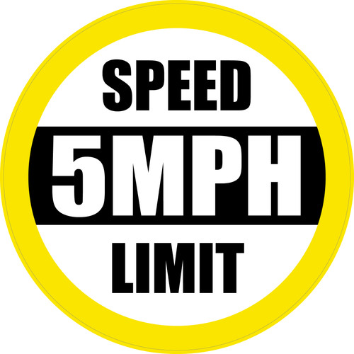 Speed Limit: 5 mph (Yellow) - Floor Sign