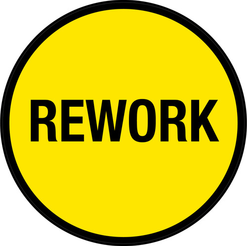 Rework (Yellow Circle) - Floor Sign