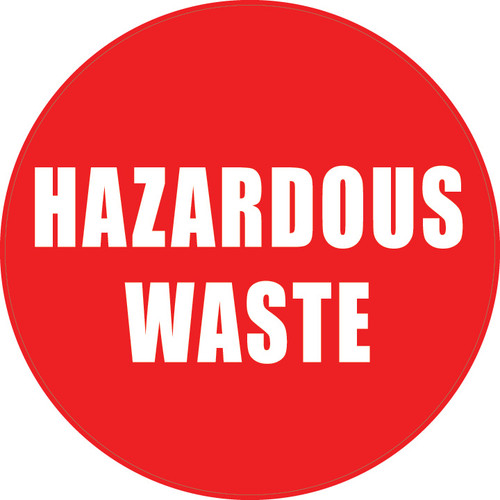 Hazardous Waste (Red Circle) - Floor Sign