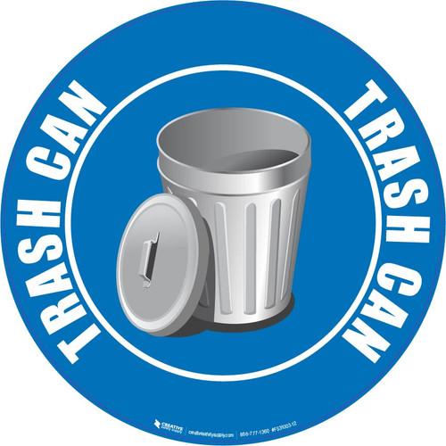 Trash Can (Blue) - Floor Sign