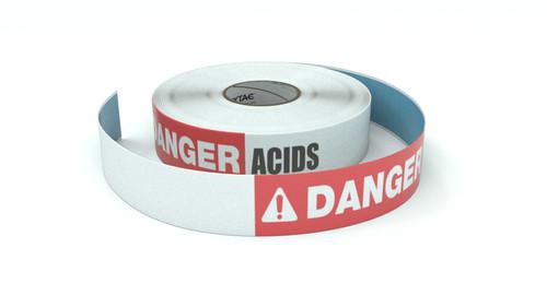 Danger: Acids - Inline Printed Floor Marking Tape