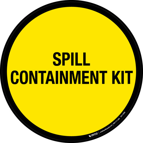 Spill Containment Kit Floor Sign