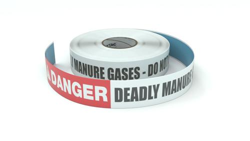 Danger: Deadly Manure Gases - Do Not Enter Pit - Inline Printed Floor Marking Tape