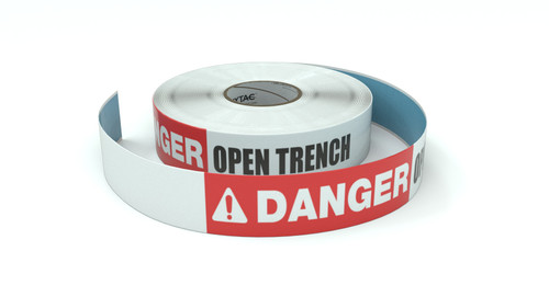 Danger: Open Trench - Inline Printed Floor Marking Tape