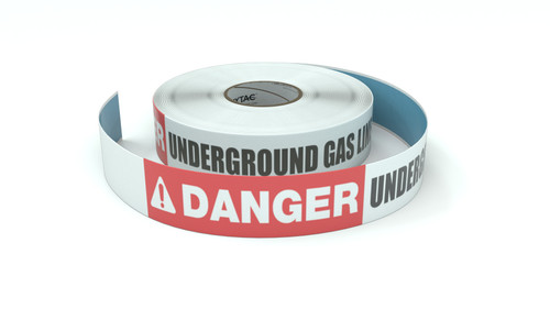 Danger: Underground Gas Line - Inline Printed Floor Marking Tape