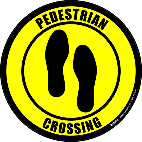 Pedestrian Crossing (Foot Prints) Floor Sign