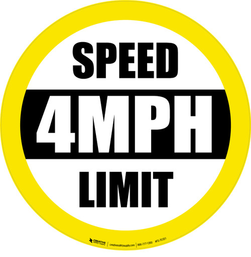 Speed Limit 4MPH Floor Sign