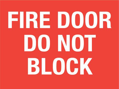 Fire Door Do not Block (Rectangle) - Floor Sign