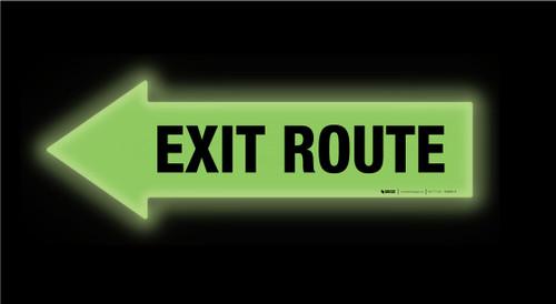 Glow: Exit Route Arrow