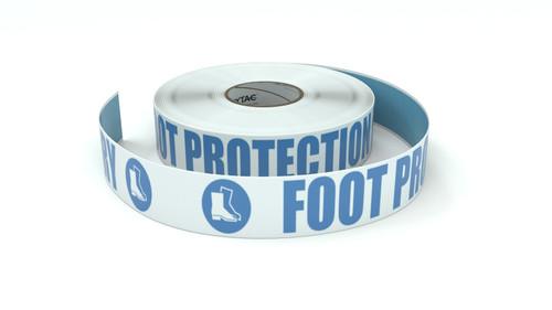 ANSI: Foot Protection Mandatory - Inline Printed Floor Marking Tape