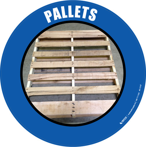 Pallets (Real) Floor Sign