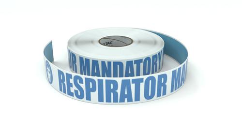 ANSI: Respirator Mandatory Beyond This Point - Inline Printed Floor Marking Tape