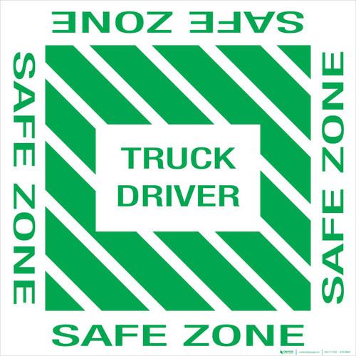Truck Driver Safe Zone Floor Sign