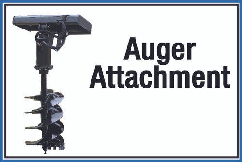 "Wall Sign: (United Rentals Logo) Auger Attachment - 12""x18"" (Peel-and-Stick Permanent Adhesive)"