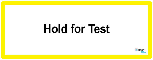 """Wall Sign: (Mylan Logo) Hold For Test 16""""x40"""" (Mounted on 3mm PVC)"""