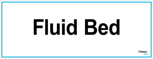 """Wall Sign: (Mylan Logo) Fluid Bed  8""""x20"""" (Mounted on 3mm PVC)"""