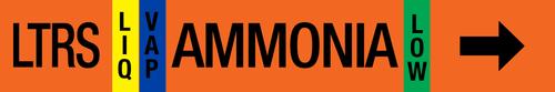 Ammonia Label - Low Temperature Recirculated Suction