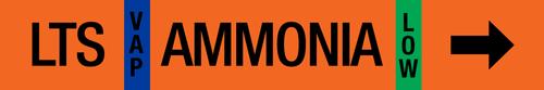 Ammonia Label - Low Temperature Suction