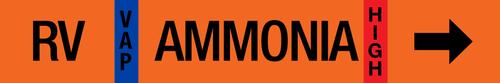Ammonia Label - Relief Vent