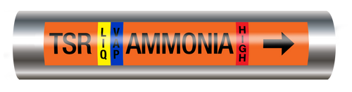 Ammonia Pipe Marking Label - Thermosyphon Return