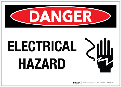 Danger: Electrical Hazard - Label