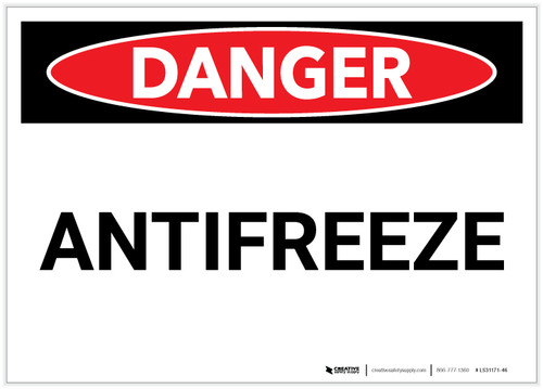 Danger: Antifreeze - Label