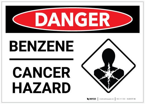 Danger: Benzene Cancer Hazard - Label