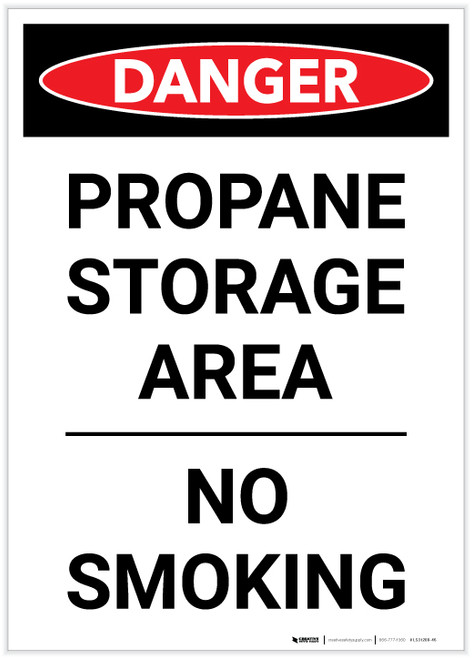 Danger: Propane Storage Area/No Smoking - Label