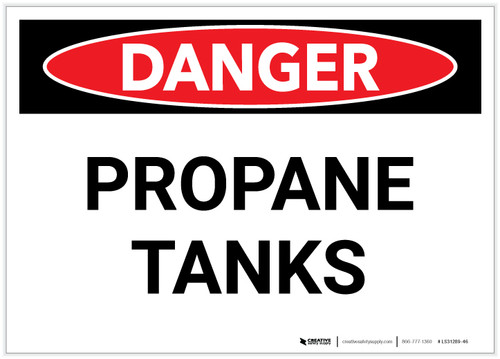 Danger: Propane Tanks - Label