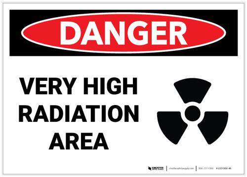 Danger: Very High Radiation Area - Label