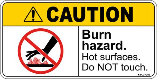 Caution - Burn Hazard