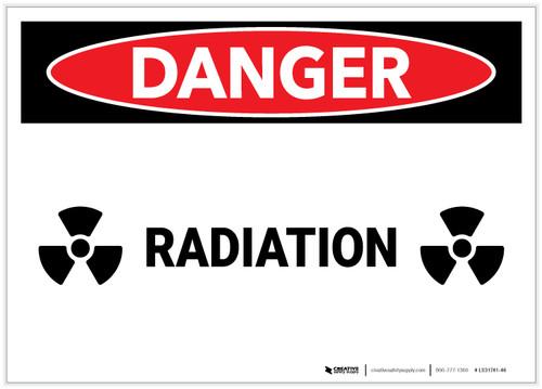Danger: Radiation Landscape - Label