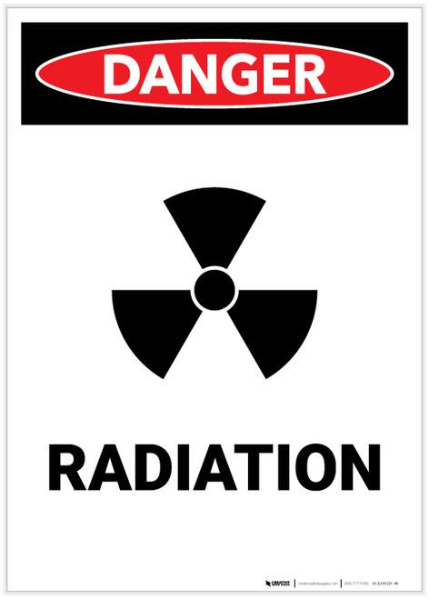 Danger: Radiation with Icon Portrait - Label