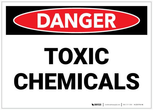Danger: Toxic Chemicals - Label