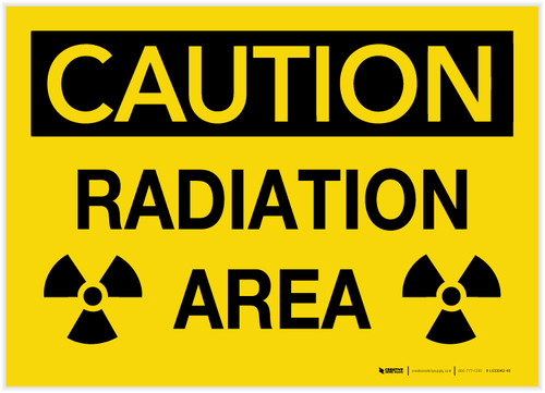Caution: Radiation Area with Graphic - Label