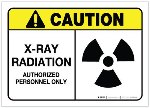 Caution: X-Ray Radiation ANSI - Label