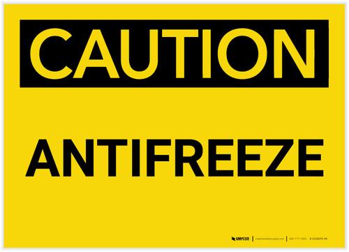 Caution: Antifreeze - Label