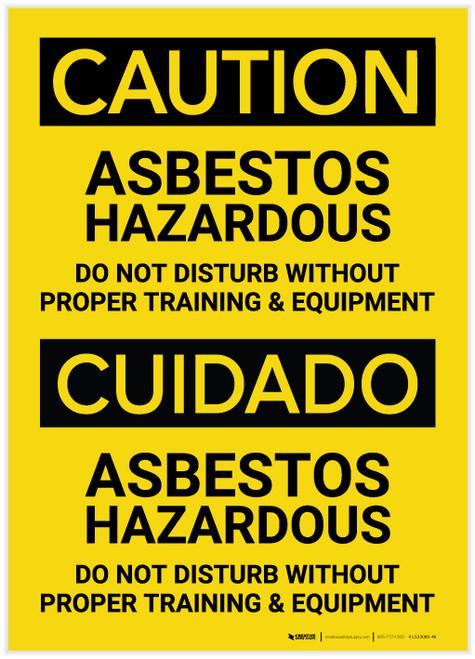 Caution: Asbestos Hazardous Bilingual (Spanish) - Label