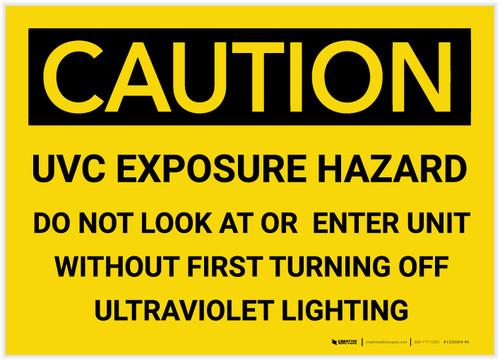 Caution: UVC Exposure Hazard - Label