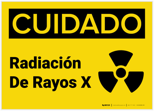 Caution: X Ray Radiation Spanish with Graphic - Label