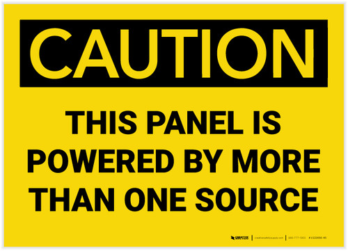 Caution: Panel Powered By More Than One Source - Label