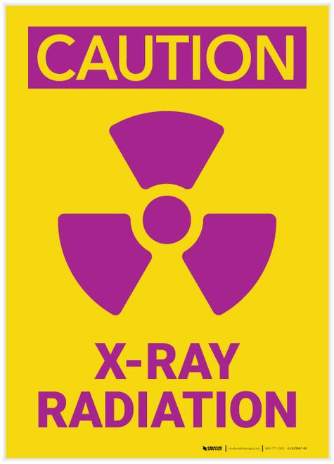 Caution: XRay Radiation - Label