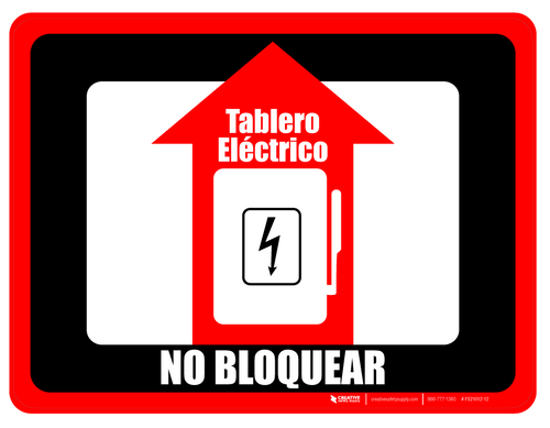 Tablero eléctrico - No Bloquear (Electrical Panel - Do Not Block) Floor Sign (Rectangle)